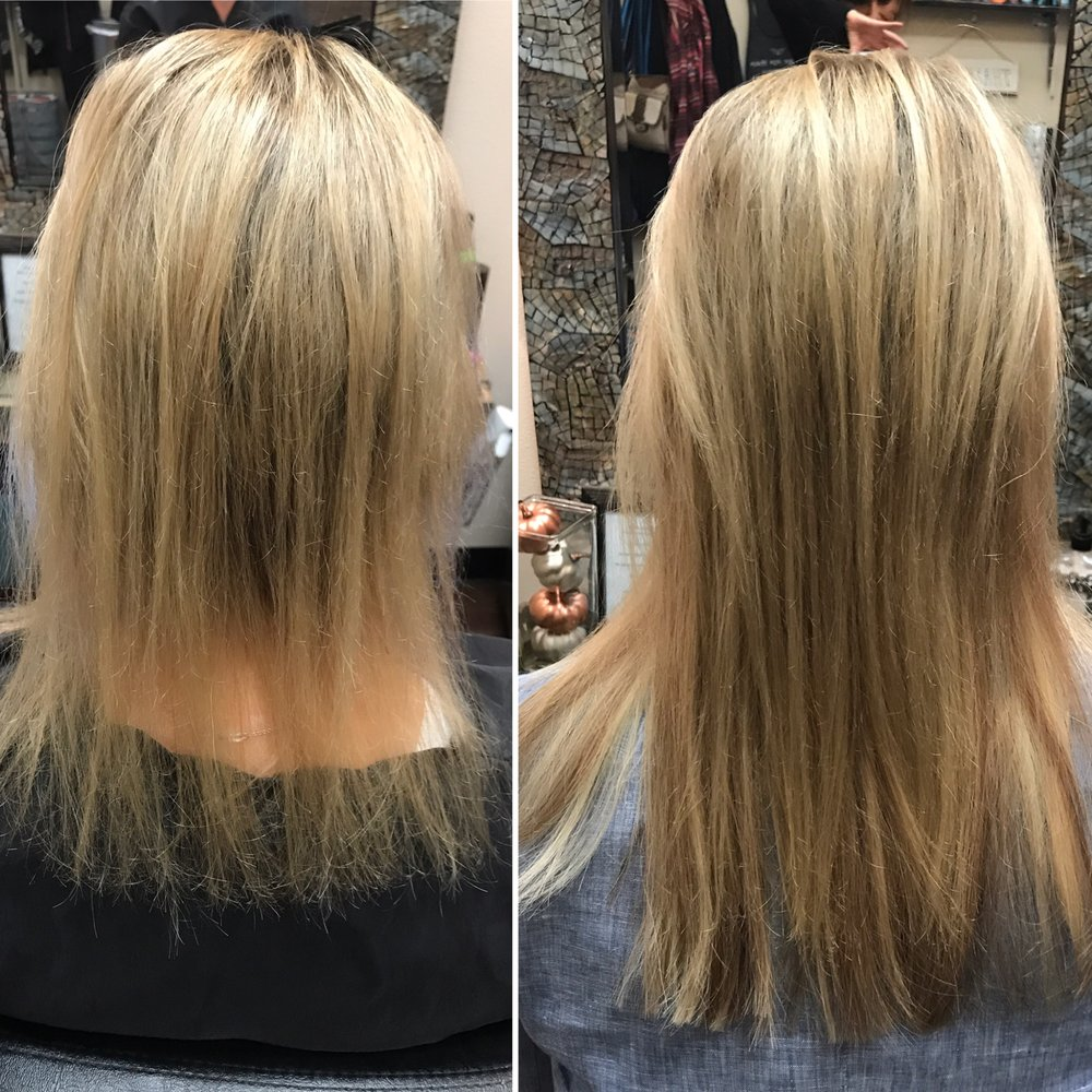 Hot Heads Hair Extensions For Length And Thickness Before And After