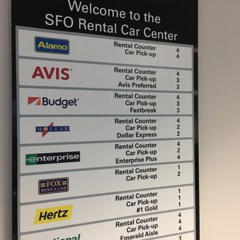 Sfo Airport Car Rental Avis