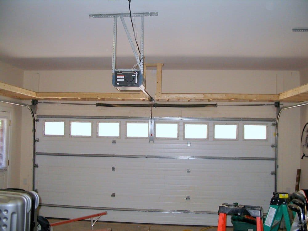 Our 4 Panel Over The Garage Door Shelf Yelp