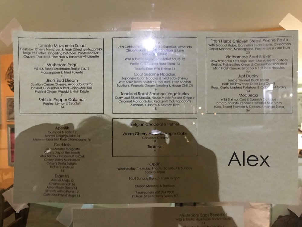 Alex: 11 Main St, Cherry Valley, NY