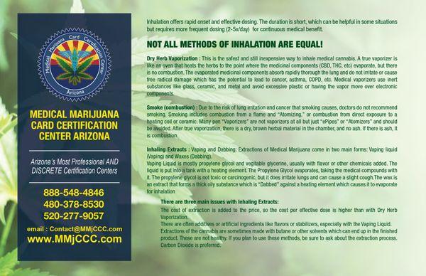 Medical Marijuana Card Certification Center of Arizona - Mesa 7254 E ...