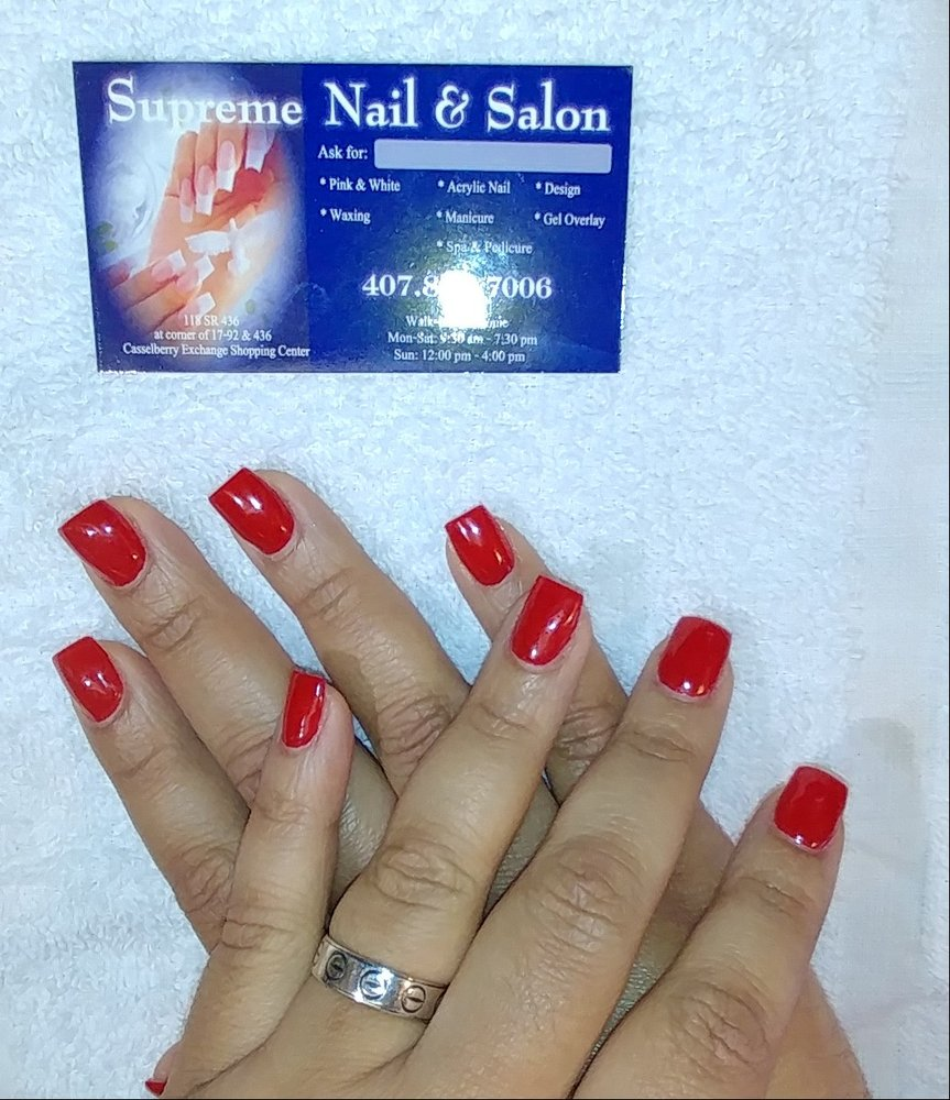 Supreme nails nail salons 118 state road 436 for Nail salon oxford