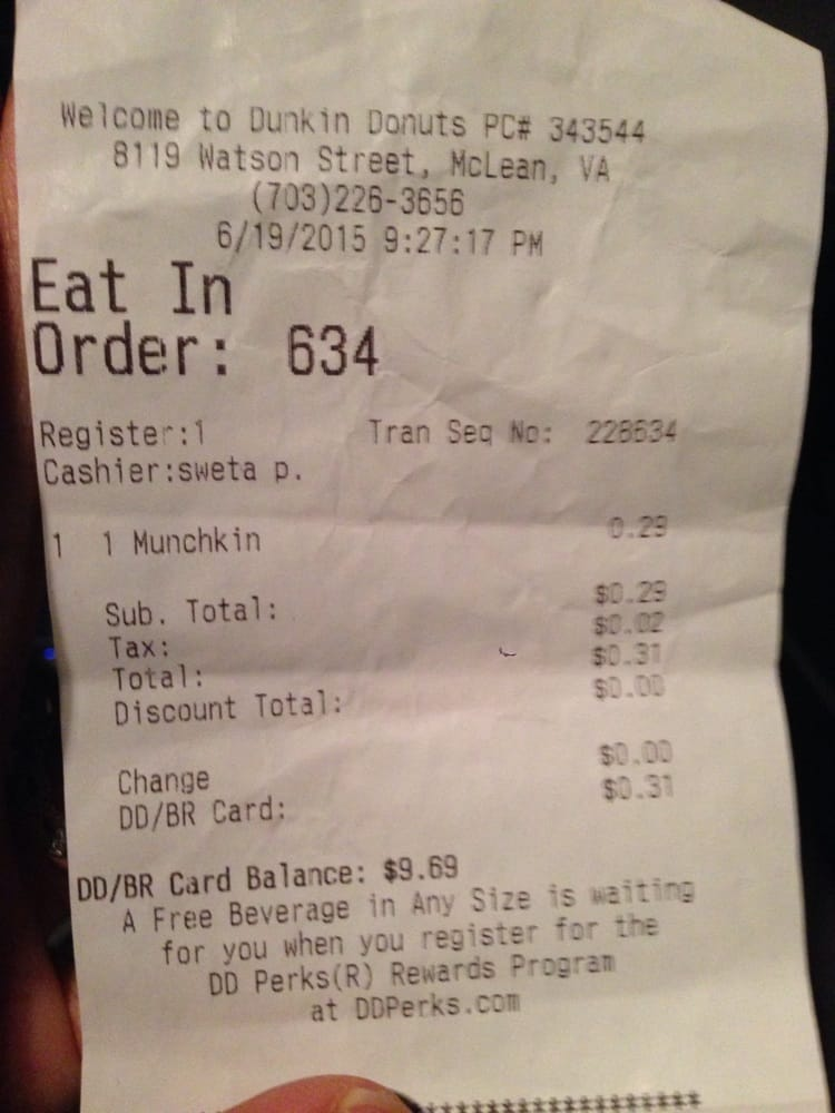 Receipt. Proof of the stupid employees at the Baskin Robbins ...