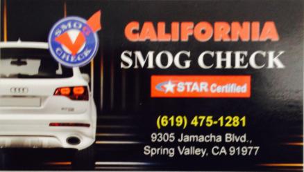 California Smog Check: 9305 Jamacha Blvd, Spring Valley, CA