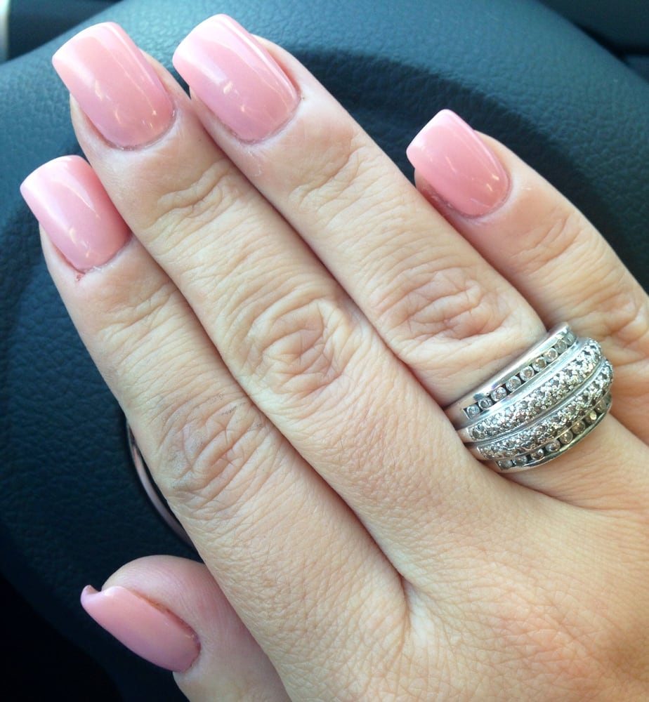 Natural looking acrylics with Harmony Gel color #1. - Yelp