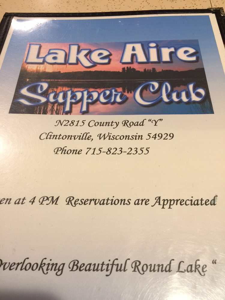 Lake Aire Supper Club: N02815 Cty Hwy Y, Clintonville, WI