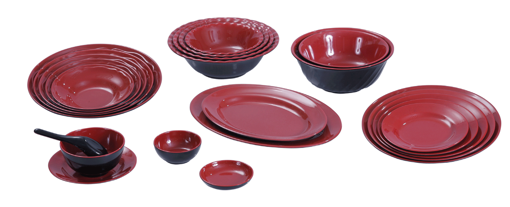 Photo of Fataco USA Trading Company - San Jose CA United States. Plastic  sc 1 st  Yelp & Plastic melamine Japanese style red/black dinnerware set - Yelp