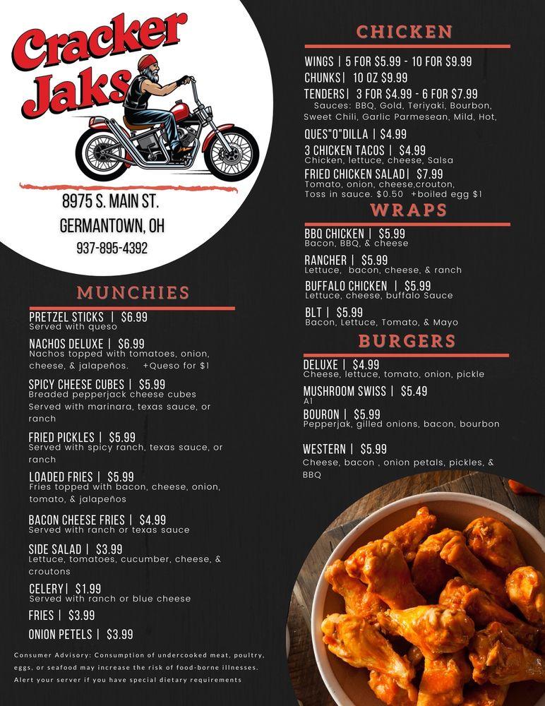 CrackerJaks Corner: 8975 S Main St, Germantown, OH