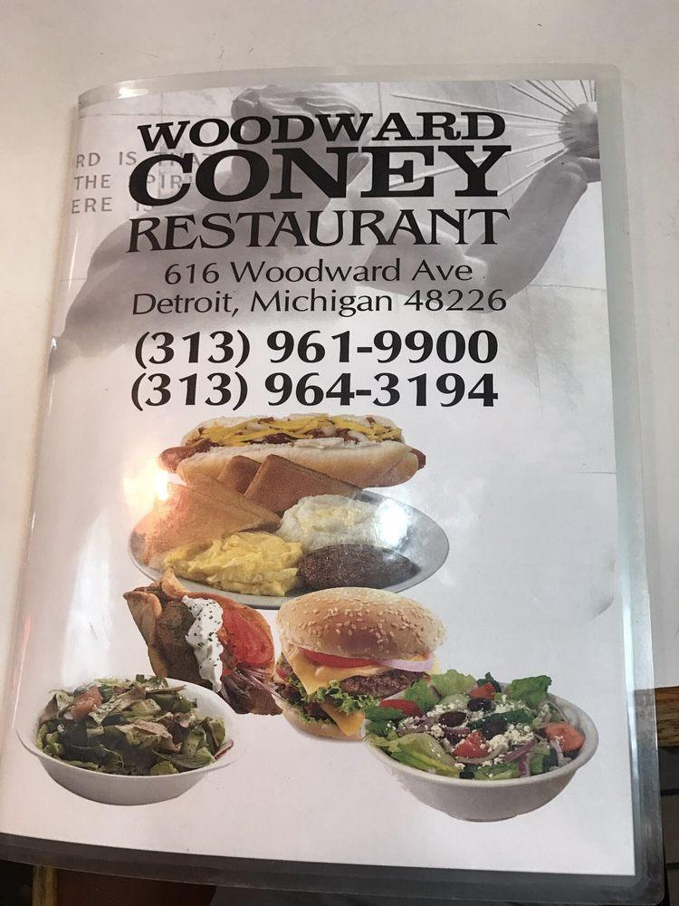 Woodward Coney Restaurant: 616 Woodward Ave, Detroit, MI