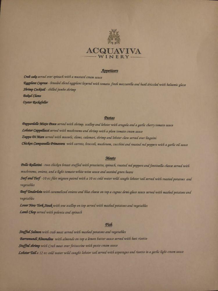 Acquaviva Ristorante Batavia: 35 N Water St, Batavia, IL