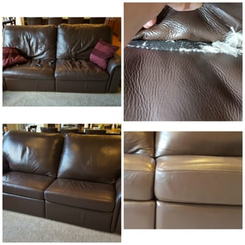 Photo Of Cutting Edge Upholstery   Kenmore, WA, United States. Dow Leather  Couch