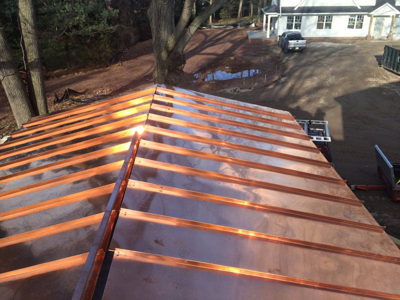 Photo Of Lgc Roofing Lawrenceville Nj United States Standing Seam Copper Roof