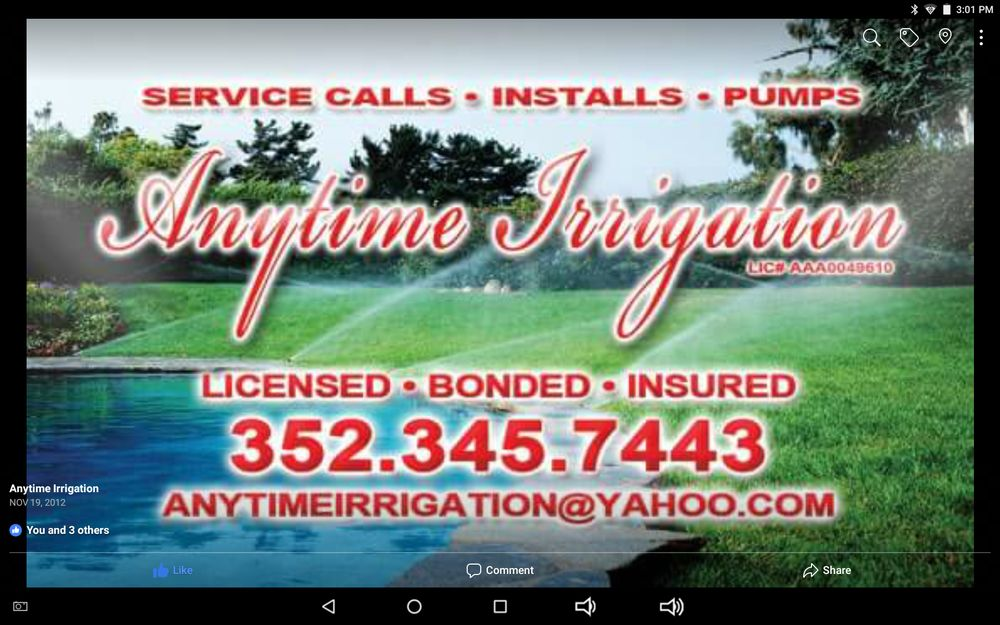 Anytime Irrigation: 11014 Maderia St, Spring Hill, FL