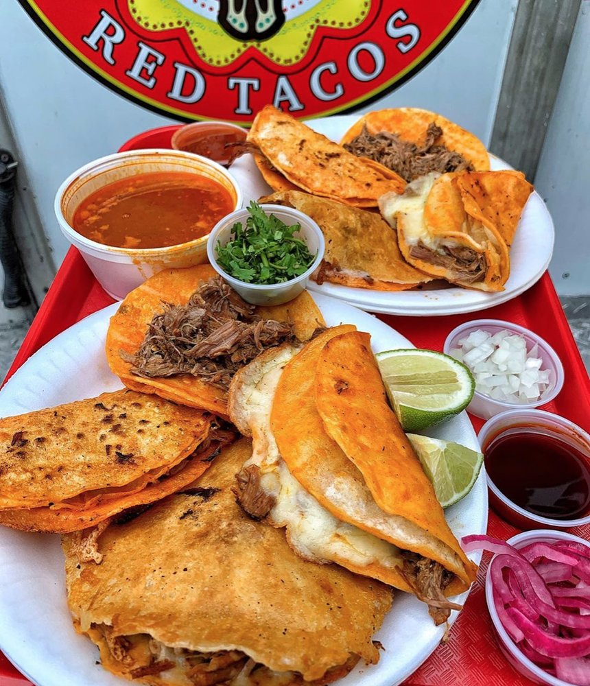 Food from Pepe's Red Tacos
