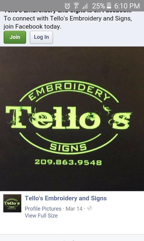 Tello's Embroidery