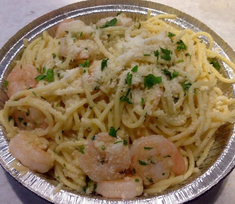 Backyard Bayou Union City Ca: Garlic Noodles With Shrimps