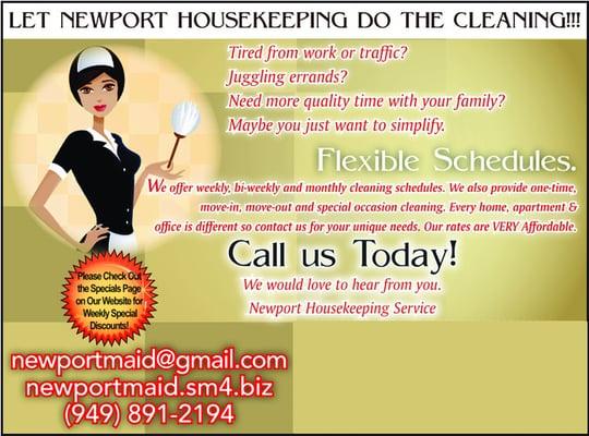 housekeeping flyer