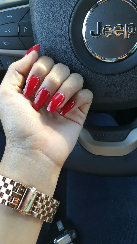 38$ Gel full set (coffin style) #325 (nail color) - Yelp