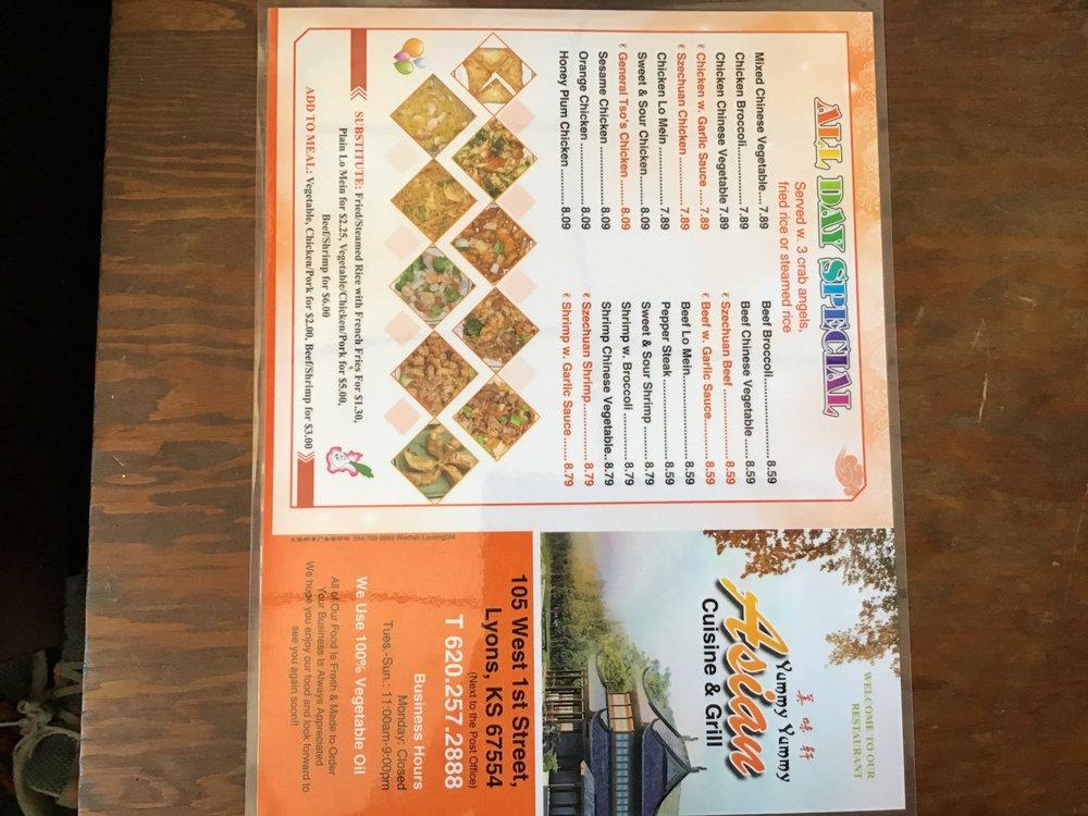 Yummy Yummy Asian Cuisine Chinese: 105 W 1st St, Lyons, KS