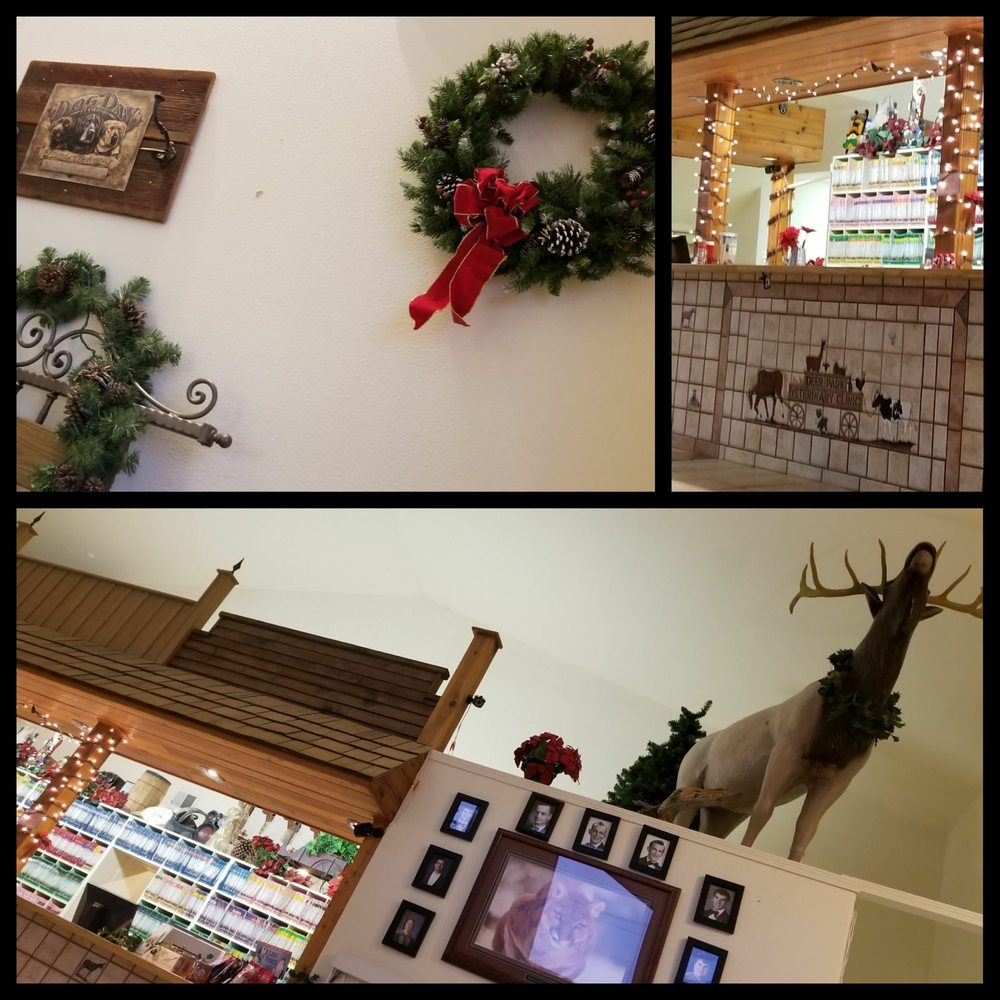 office holiday decor. Photo Of Deer Park Veterinary Clinic - Park, WA, United States. Front Office Holiday Decor