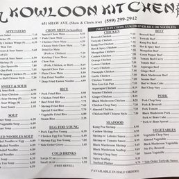 photo of kowloon kitchen clovis ca united states updated menu - Kowloon Kitchen