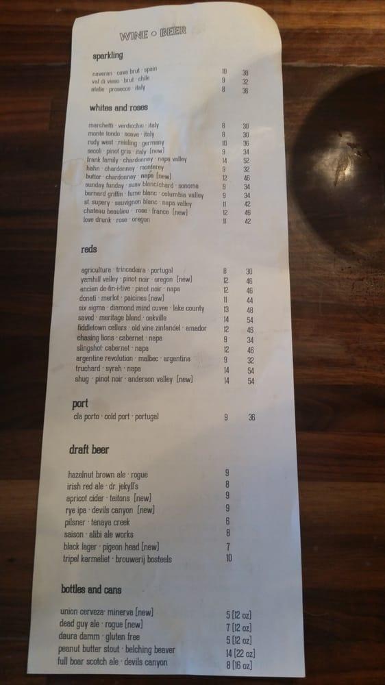 Centro Bar And Kitchen Reno Menu