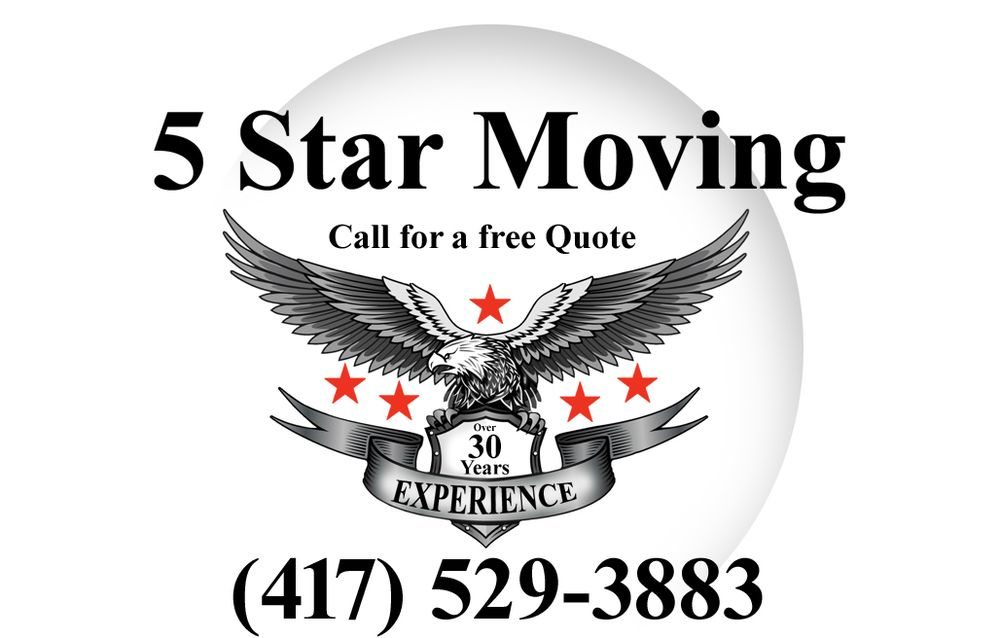 5 Star Moving Services: 9182 Elm Dr, Joplin, MO