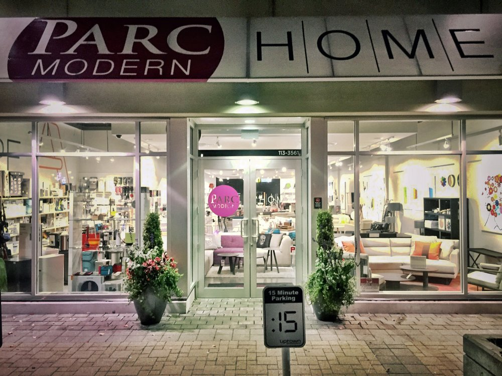 Parc modern furniture stores 113 3561 blanshard street for Furniture victoria bc