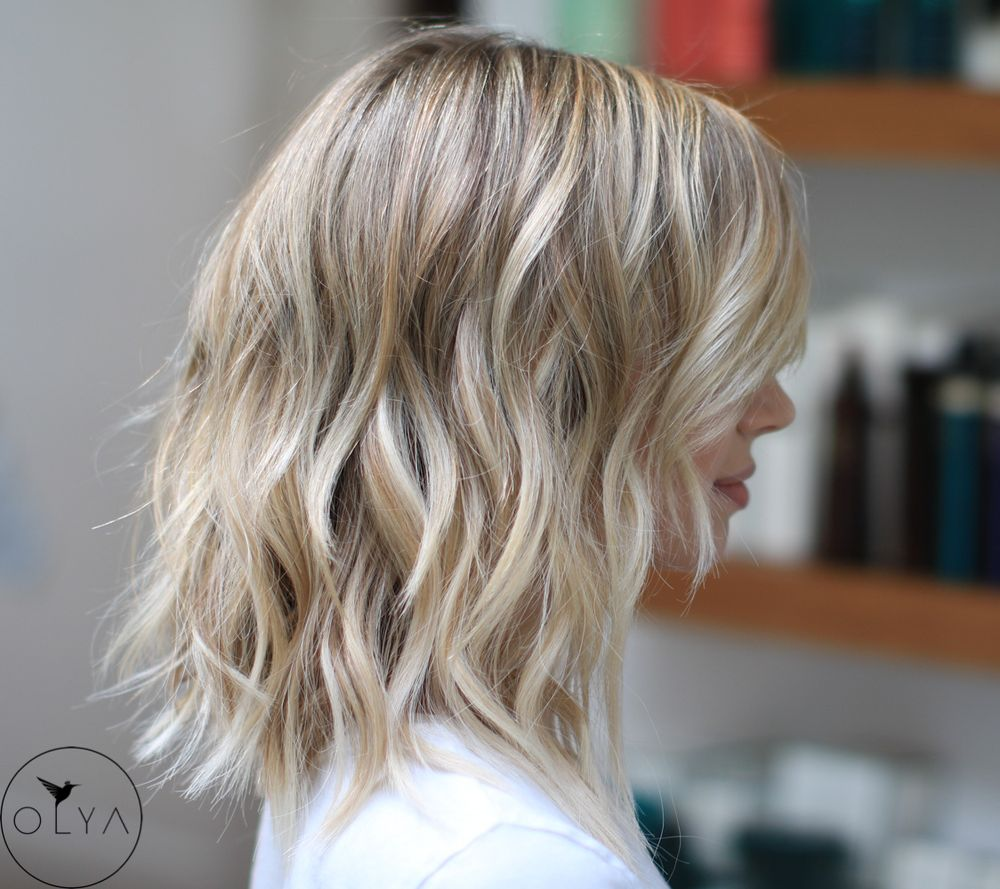 Blonde Highlights With A Few Great Length Pieces In The Front Yelp