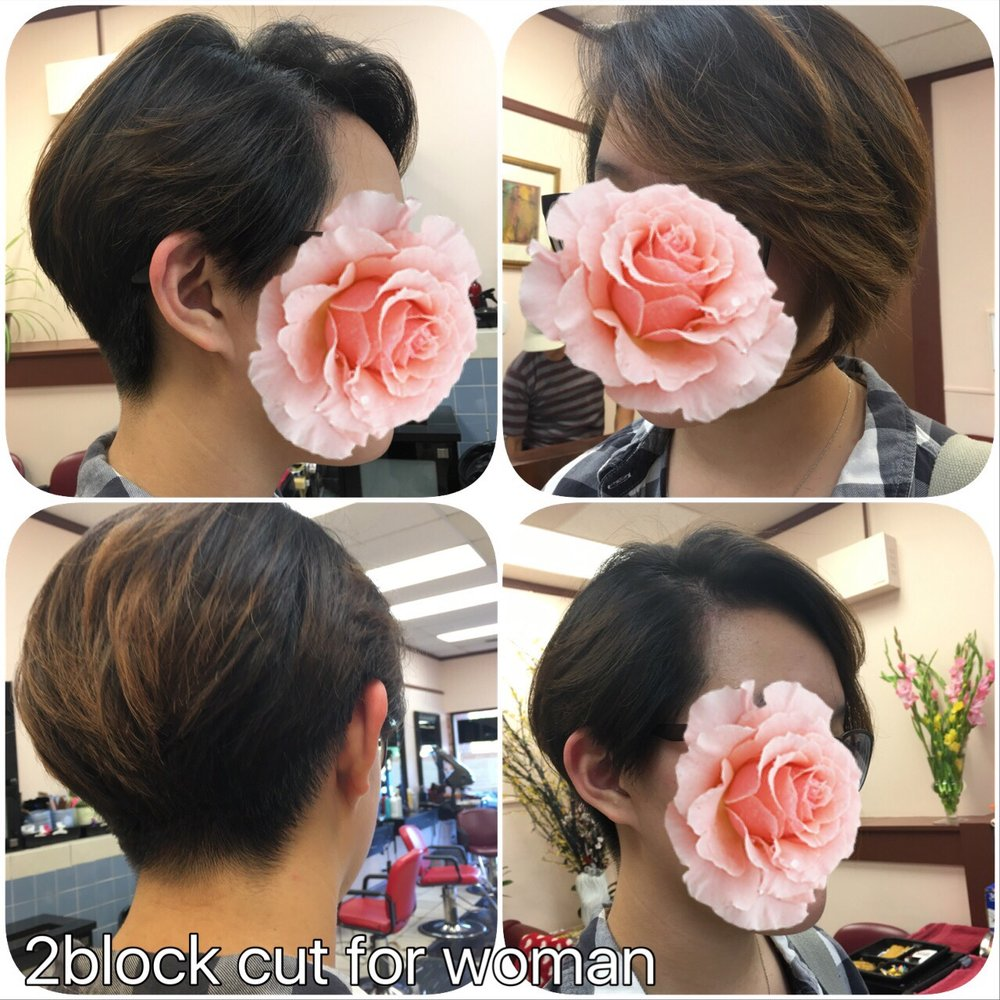 Two Block Hair Cut For Woman Yelp