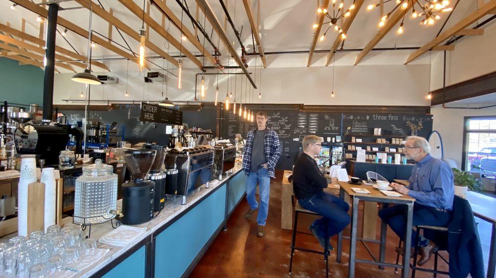 Three Fins Coffee Roasters: 581 Main St, West Dennis, MA