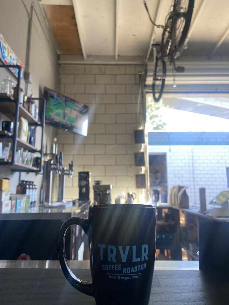 TRVLR Coffee Roaster: 5839 Mission Gorge Rd, San Diego, CA