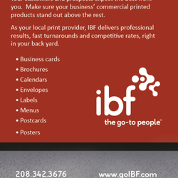Ibf group web design 910 w amity rd boise id phone number yelp photo of ibf group boise id united states in house printing capabilities reheart Choice Image
