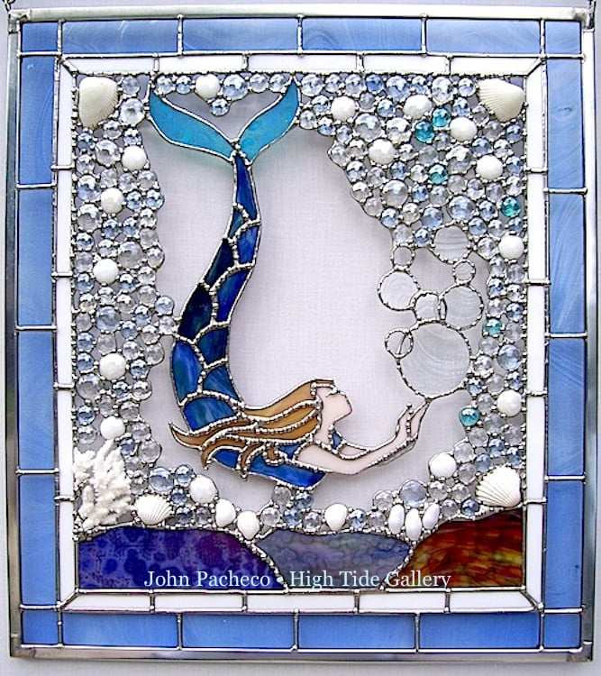 A Mermaid Stained Glass Window By John Pacheco A Top Selling Artist
