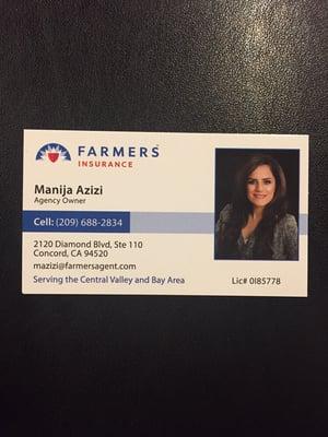 Manija azizi farmers insurance agency insurance manteca ca business card colourmoves
