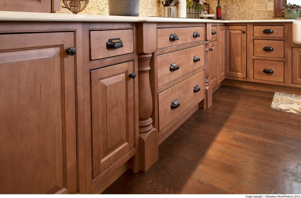 Walls floors and more features kitchen and bath cabinets by showplace wood products made in the Bathroom cabinets made in usa