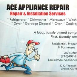 Ace Appliance Repair 23 Reviews Appliances Amp Repair