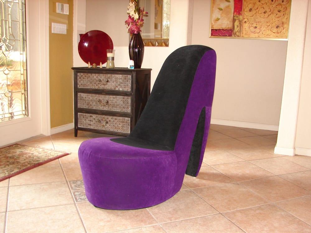 Photo Of DancePoleRental   Margate, FL, United States. Purple High Heel  Chair