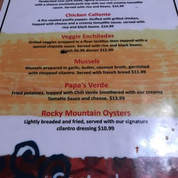 Photo Of Cactus Mexican Dining Woodbridge Ca United States Rocky Mountain Oysters