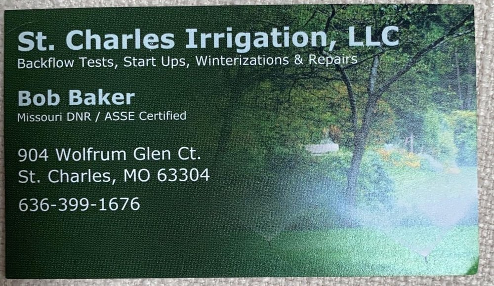 St. Charles Irrigation: Weldon Spring, MO