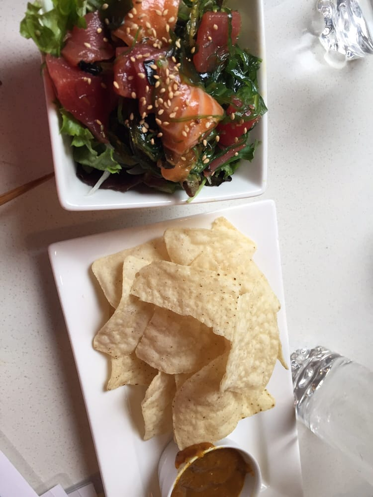 Poke and the curry chips from happy hour menu yelp - Modern japanese cuisine ...