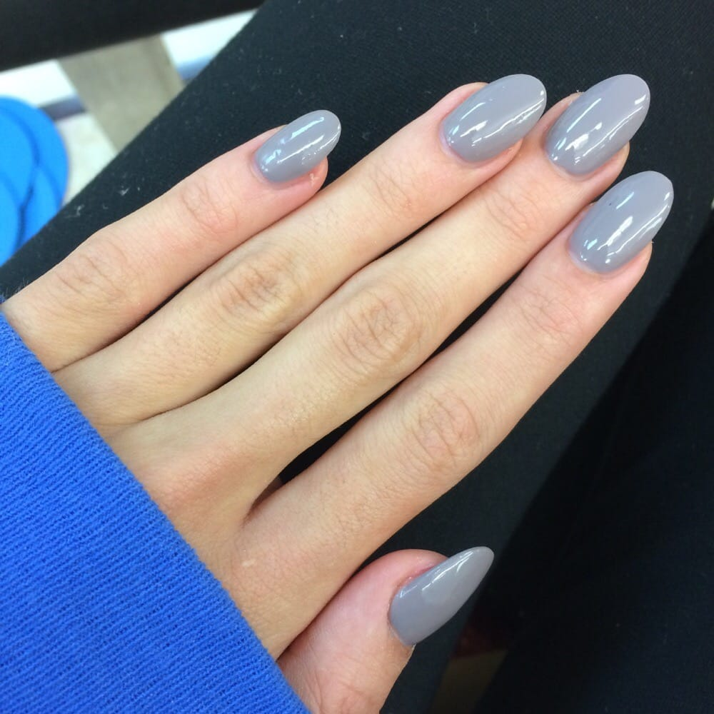 Acrylic fill with regular polish - only $20!! Kathy did such a good ...
