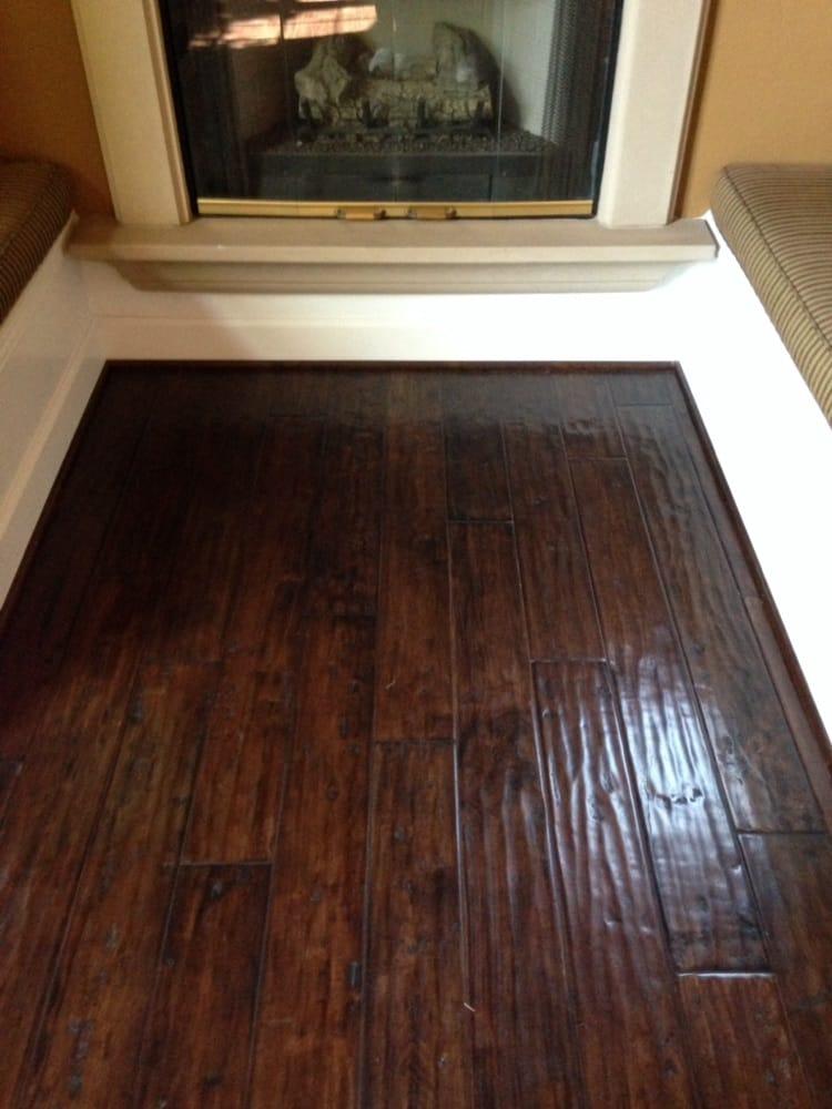 Hand Distresses Engineered Hardwood Floor Installed Over