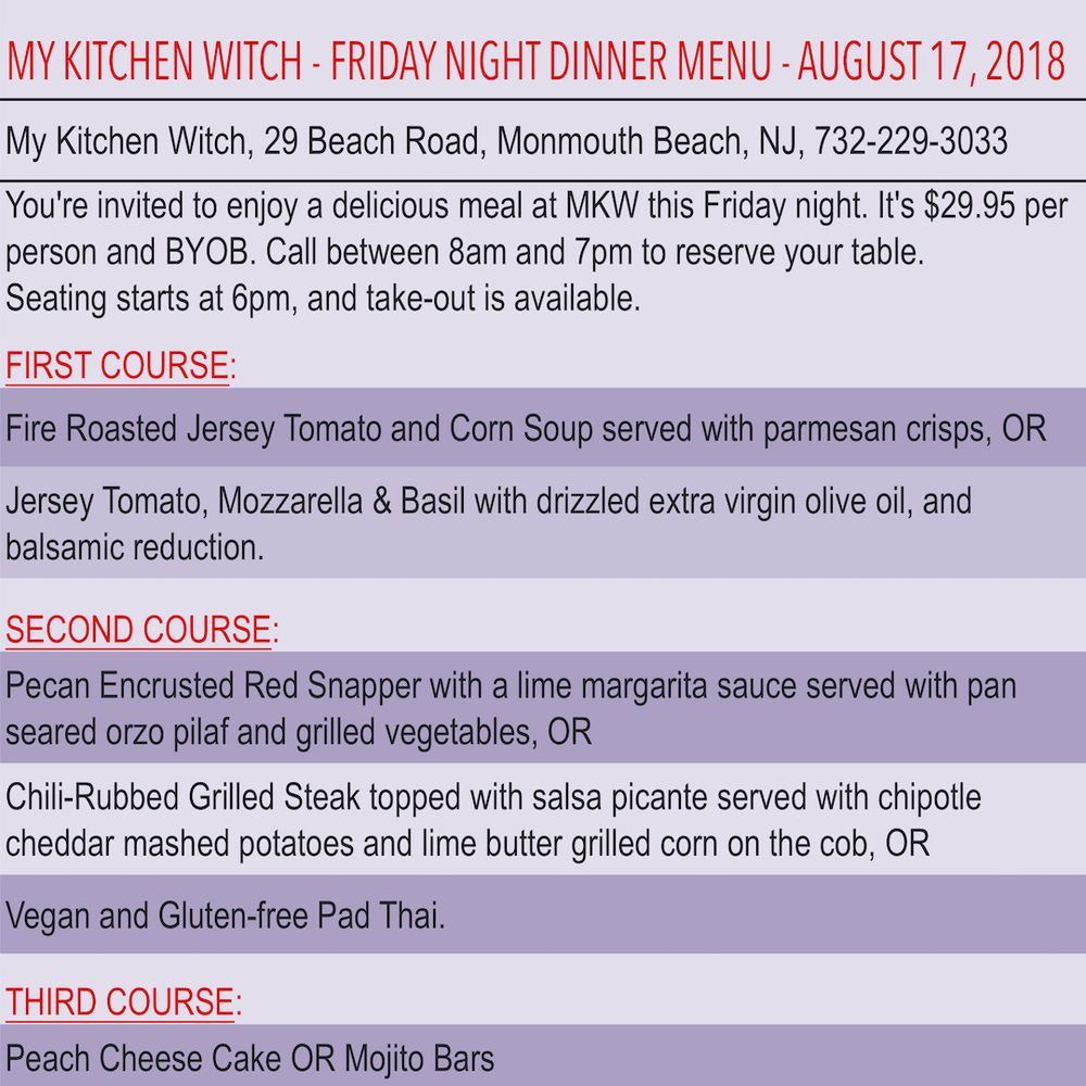 My Kitchen Witch Menu - Kitchen Appliances Tips And Review