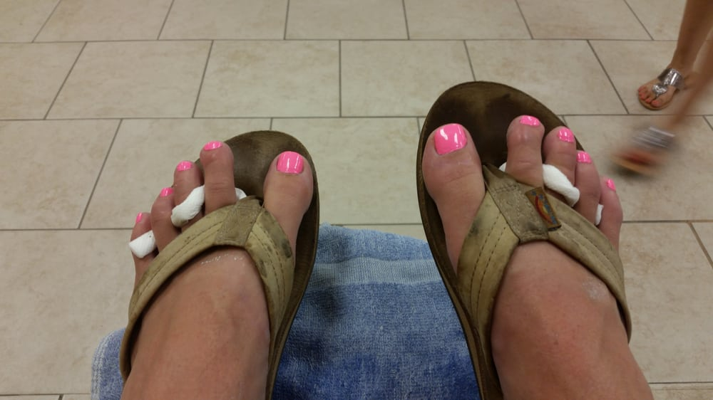 Spiffy nails after delux! - Yelp