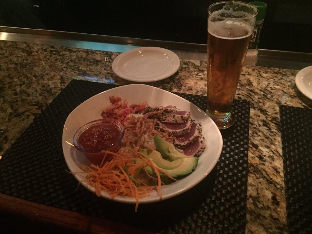 Spicy Tuna Bowl at the bar. - Yelp