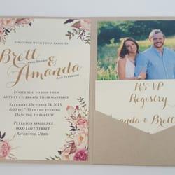 Photo Of Beautiful Wedding Announcements Riverton Ut United States Storybook Invitations