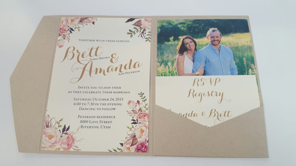 Beautiful Wedding Announcements.Beautiful Storybook Invitations On Craft Paper Yelp