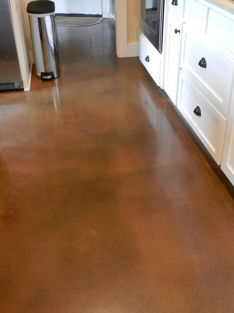 Concrete polished, stained, and sealed by Austin Stained ...