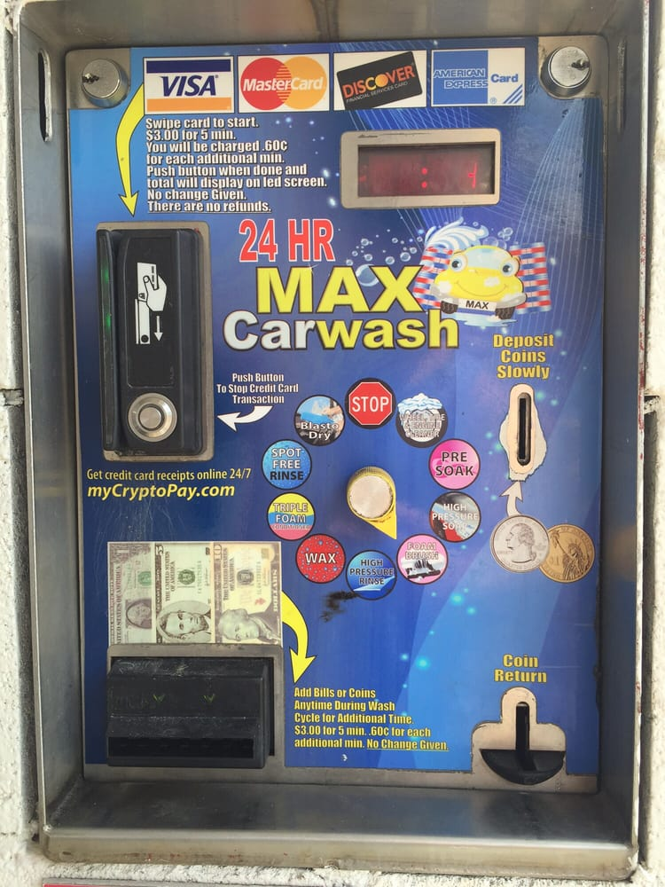 Self Serve Coin Box At Max Carwash Yelp